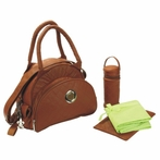 Continental Flair Diaper Bag in Sassy Caramel