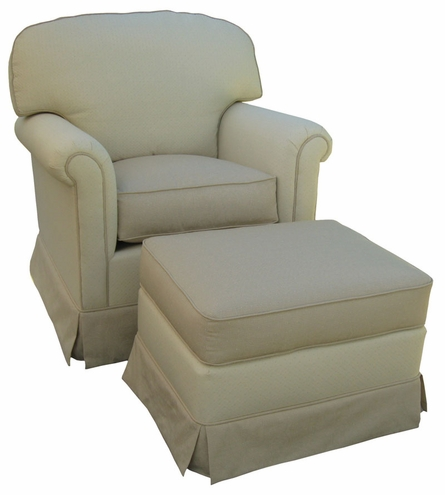 Continental Rocker Glider Chair - Monaco Vanilla