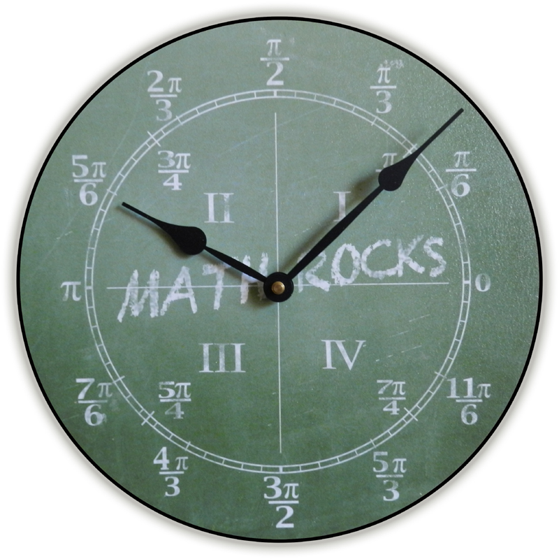 Cool for school kids wall clock rosenberryroomscom for Wall clock images for kids