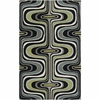Cool Square Swirl Dreamscape Rug