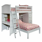 Cooley SSS Loft with Lower Platform Bed in White