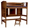 Cooley Study Loft Bed in Cherry