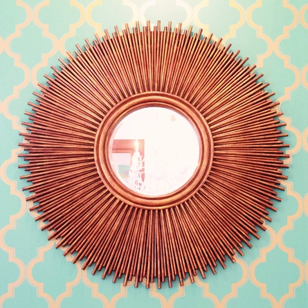 Copper Burst Mirror