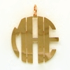 Copper Medium Circle Monogram Pendant