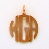 Copper Small Circle Monogram Pendant