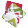 Coral and Lime Chevron Burp Cloth Set