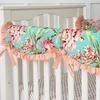 Coral Camila Crib Rail Cover