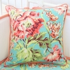 Coral Camila Square Throw Pillow