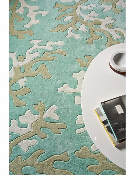 Coral Fixation Rug in Turquoise