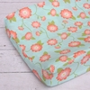 Coral Floral Changing Pad Cover