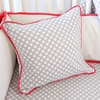 Coral & Gray Square Throw Pillow