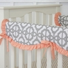 Coral Mod Lattice Crib Rail Cover