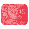 Coral Paisley Personalized Mouse Pad