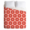 Coral Pop Luxe Duvet Cover
