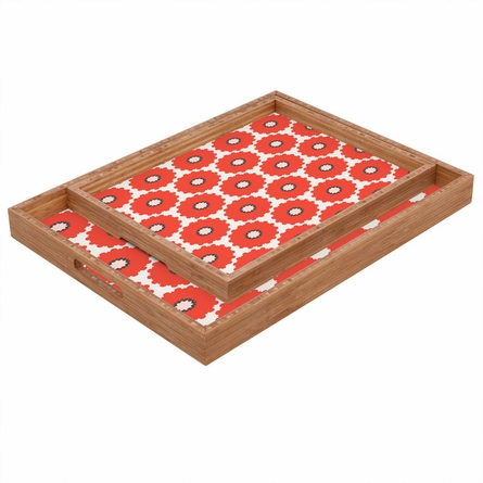 Coral Pop Rectangle Tray