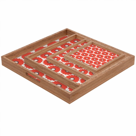 Coral Pop Square Tray