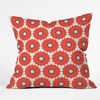 Coral Pop Throw Pillow