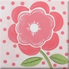 Coral Poppy Imagination Square Hand Painted Canvas Art