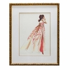 Coral Sunset Framed Couture Barbie Art Print