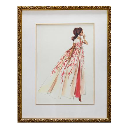 Coral Sunset Framed Couture Barbie Art Print By Art For Kids