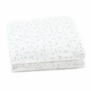 Cornflower Blue Pebble Fitted Crib Sheet