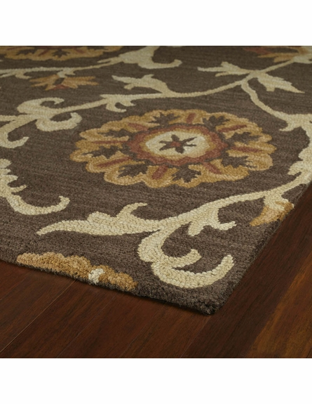 Cornish Floral Rug in Brown