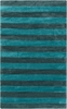 Cosmopolitan Striped Rug in Teal