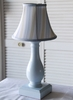 Cottage Stripe Blue Mini Vase Lamp
