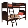 Cottage Twin Bunk Bed in Espresso