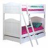 Cottage Twin over Twin Bunk Bed in White