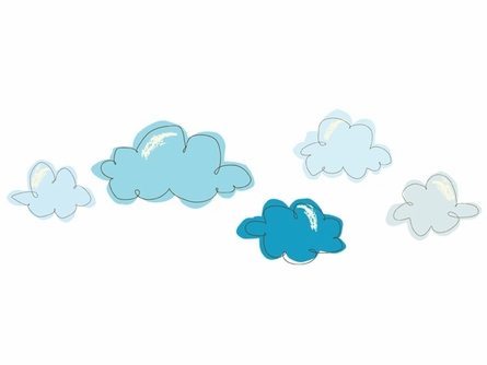 Cotton Candy Clouds Fabric Wall Decals