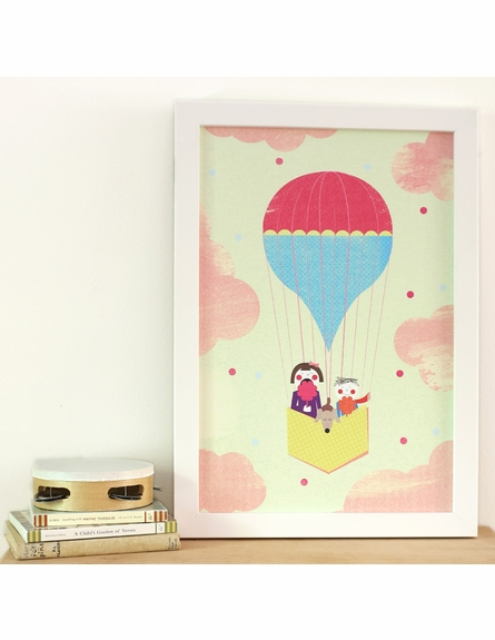 Cotton Candy in the Clouds Framed Canvas Wall Art