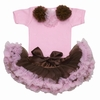 Cotton Candy Pink and Brown Tutu Set