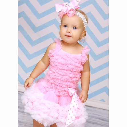 Cotton Candy Pink and White Pettidress