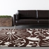 Counterfeit Floral Burst Rug in Brown