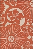 Counterfeit Floral Burst Rug in Orange