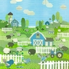 Counting Sheep and Birdies - Blue Canvas Wall Art
