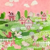 Counting Sheep and Birdies - Pink Canvas Wall Art