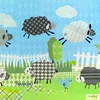 Counting Sheep in Blue Canvas Wall Art