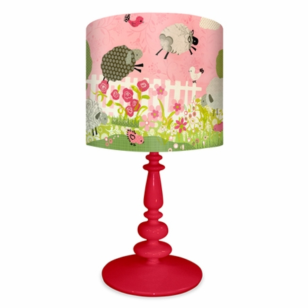 Counting Sheep Pink Lamp
