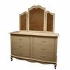 Country French Long Dresser with Decorative Trim