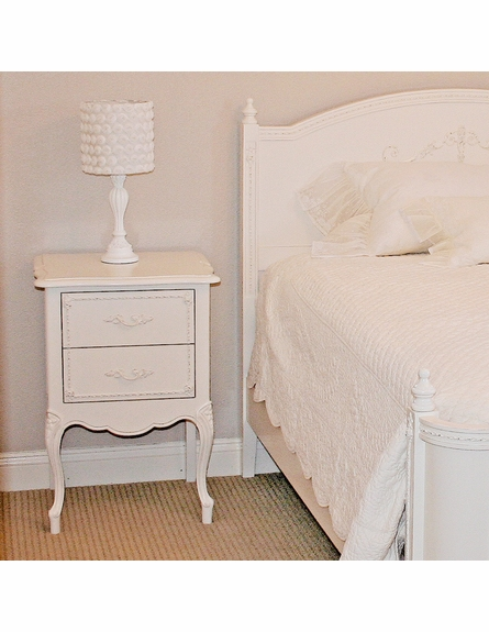 Country French Two Drawer Nightstand