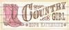 Country Girl Vintage Wood Sign