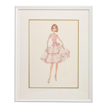 Cover Girl Framed Couture Barbie Art Print By Art For Kids