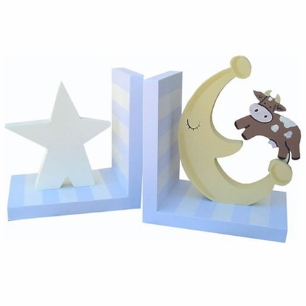 Cow Over the Moon Bookends