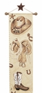 Cowboy Hand Painted Canvas Growth Chart
