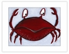 Crab Framed Canvas Reproduction