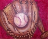 Crackle Baseball Hand Painted Canvas