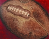 Crackle Football Hand Painted Canvas