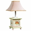 Crackled Rose Girls Table Lamp